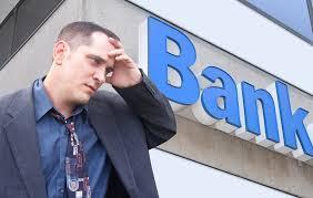 Man struggling for business loan